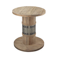 Lake Shore 28 X 28 inch Washed Pine Wood Table Home Decor