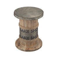 Sterling Lake Shore Stool in Washed Pine Wood 138-033