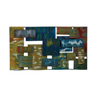 Sterling Broward Wall Decor in Mulit Colored Hand Painted Panels 138-062