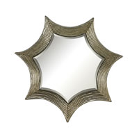 Sterling Kaleidoscope Mirror in Gold Leaf With Antique 138-068