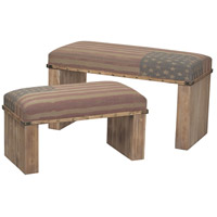 National Oak Finish with Tea Stain Bench Home Decor