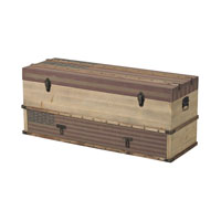 Sterling National Storage Trunk in Oak Finish with Tea Stain 138-083