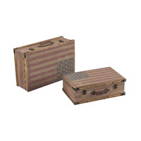 Sterling National Storage Box in Oak Finish with Tea Stain 138-084/S2
