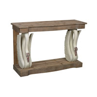 Sterling Baywood Console in Antique White and Washed Pine 138-088