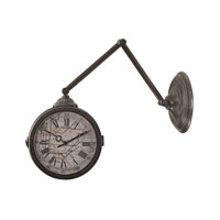 Sterling Map of New York Subway Wall Clock in Antique Pewter 138-094