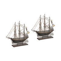 Sterling Set of 2 Ship Statuary in Antique Pewter 138-099/S2