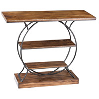 Wood and Metal 39 X 16 inch Medium Oak Console Table