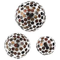 Sterling Set of 3 Dandelion Alternative Wall Decor in Copper Tones 138-115/S3