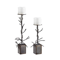 Sterling Set of 2 Branch Candle Holder in Grey 138-131/S2