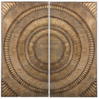 Sterling Set of 2 Abstract Metal Alternative Wall Decor in Gold 138-133/S2