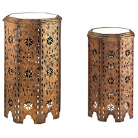 Moroccan 17 X 17 inch Gold Accent Table Home Decor