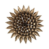 Sterling Dandelion Alternative Wall Decor in Antique Gold 138-149