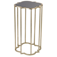 Mission 22 X 12 inch Soft Gold and Gloss Black Cocktail Table