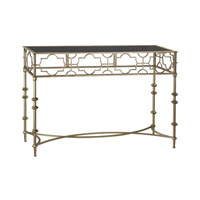 Moorish 47 X 16 inch Antique Gold and Black Console Table Home Decor