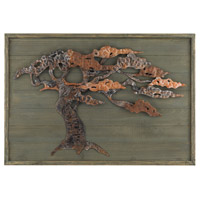 Sterling Tree Wall Art in Aged Green and Rusted Metal 138-173