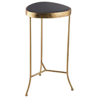 Onyx 16 X 16 inch Gold and Black Accent Table Home Decor