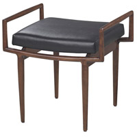 Blackinton Walnut With Black Bench Home Decor