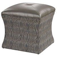 Sterling Luxe Ottoman in Grey 139-010