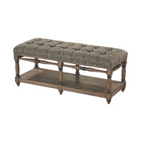 Luxe Green Bench Home Decor