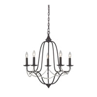 Sterling Telford 5 Light Chandelier in Aged Bronze 140-004