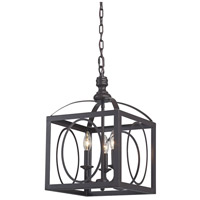 Ailsa 3 Light 12 inch Aged Bronze Chandelier Ceiling Light
