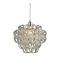 Torvean 1 Light 13 inch Clear and Chrome Pendant Ceiling Light