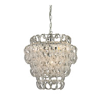 Torvean 3 Light 14 inch Clear and Chrome Pendant Ceiling Light