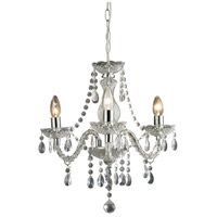 Theatre 3 Light 16 inch Clear and Chrome Chandelier Ceiling Light