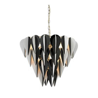 Sterling Ashreigh 6 Light Pendant in Black And White 144-018