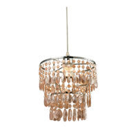 Aberfour 1 Light 10 inch Pearlescent Peach and Chrome Pendant Ceiling Light