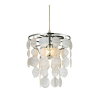 Sterling Huntly 1 Light Pendant in White Acrylic With Slight Pearlescent Sheen 144-020