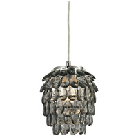 Sterling Kinloss 1 Light Pendant in Grey Smoke 144-021