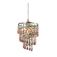Forres 1 Light 8 inch Pink and Clear Pendant Ceiling Light