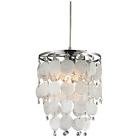 Sterling 144-025 Montebello 1 Light 9 inch Chrome/Mother of Pearl Shell Mini Pendant Ceiling Light