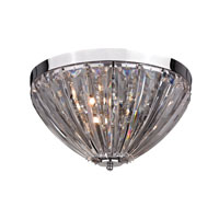 Signature 3 Light 14 inch Clear Semi Flush Ceiling Light