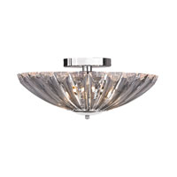 Signature 4 Light 18 inch Clear Semi Flush Ceiling Light