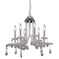 Signature 6 Light 22 inch Clear Mini Chandelier Ceiling Light