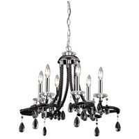 Signature 6 Light 22 inch Black Mini Chandelier Ceiling Light