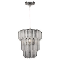 Signature 1 Light 11 inch Chrome Pendant Ceiling Light