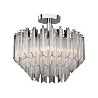Signature 3 Light 15 inch Clear Semi Flush Ceiling Light