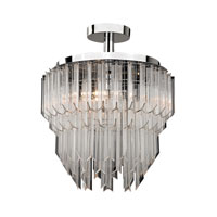 Signature 3 Light 18 inch Clear Semi Flush Ceiling Light