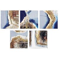 Sterling Set of 5 Fulvio Dot Canvas Wall Art 146-020/S5