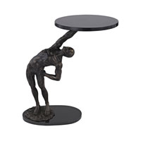 Strongman 21 X 21 inch Bronze Accent Table Home Decor