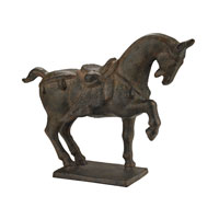 Sterling Ming Horse Statuary in Antique Bronze 148-009