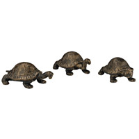 Sterling Set of 3 Box Turtles Statuary in Bronze 148-014/S3