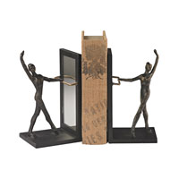 Sterling Set of 2 Bar Bookend in Bronze 148-025/S2