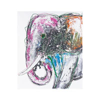 Bold Elephant Oil Painting
