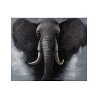Sterling African Elephant Oil Painting 149-007