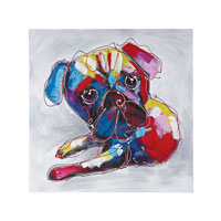 Bold Puppy Oil Painting