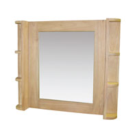Elegance 28 X 24 inch Light Natural Wood Tone Wall Mirror Home Decor